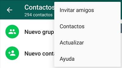 actualizar contactos whatsapp