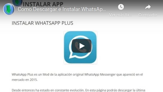 video tutorial para descargar whatsapp plus