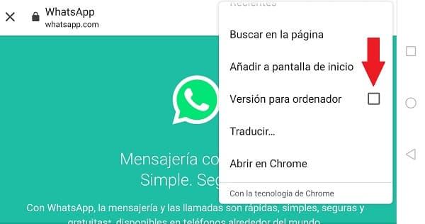 whatsapp web en español
