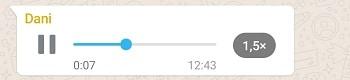 audio whatsapp 1,5x